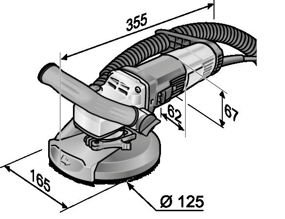 Kompaktowa szlifierka renowacyjna do bezpyłowego szlifowania przy krawędziach | 504.939